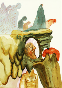 Salvador Dali. Divine Comedy - The Dishonest, Inferno 22. Park West Gallery.