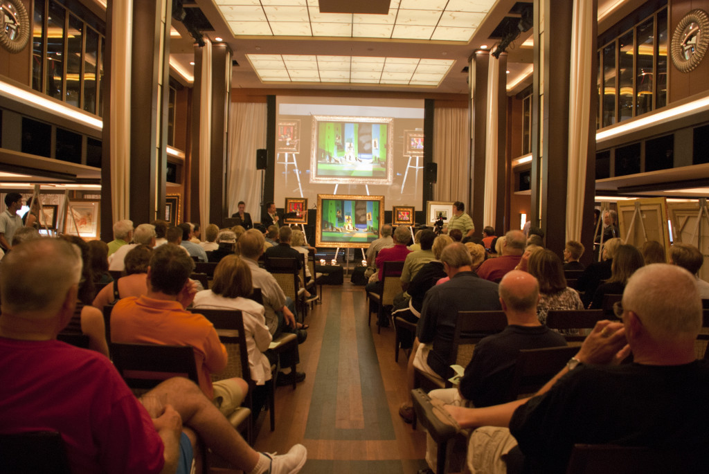 Park West Gallery cruise ship art auctions