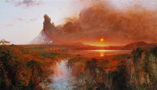 """""""Cotopaxi"""" (1862) by Frederic Edwin Church, Detroit Institute of Arts."""