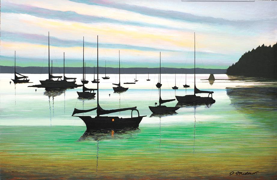 """""""Emerald Harbor"""" (2005) by Igor Medvedev, Park West Gallery."""