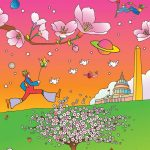 national cherry blossom festival, peter max, park west gallery