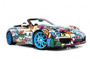 Romero Britto Porsche 911 Cabriolet at Art Basel Miami Beach