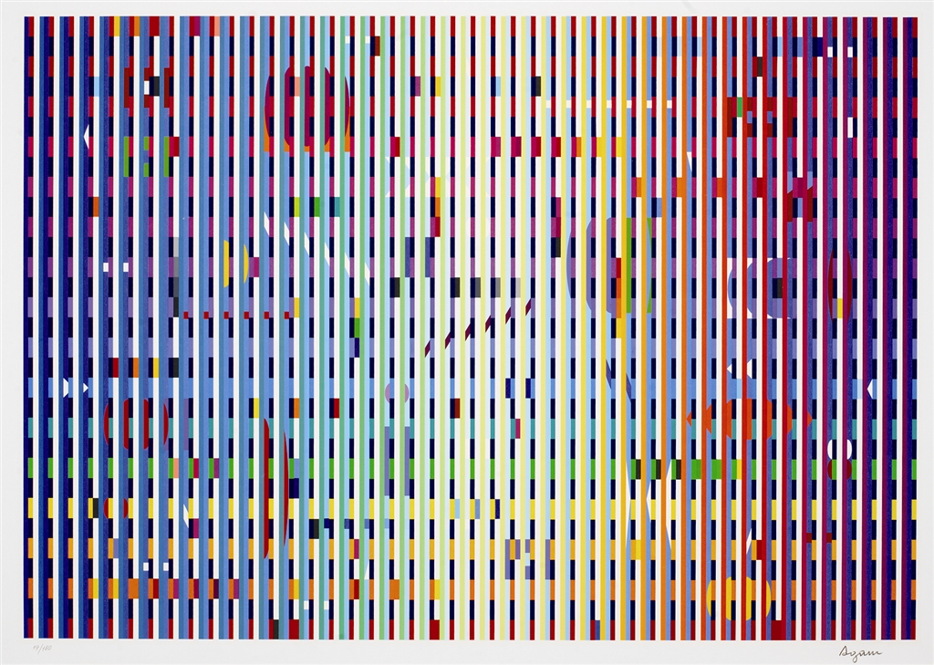 """Rainbow Bright"" (2006), Yaacov Agam"