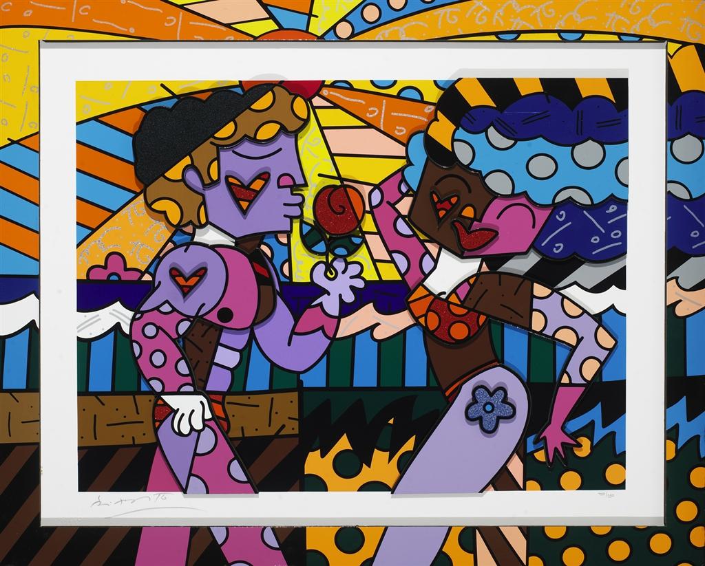 """""""South Beach Couple"""" (2008), Romero Britto"""