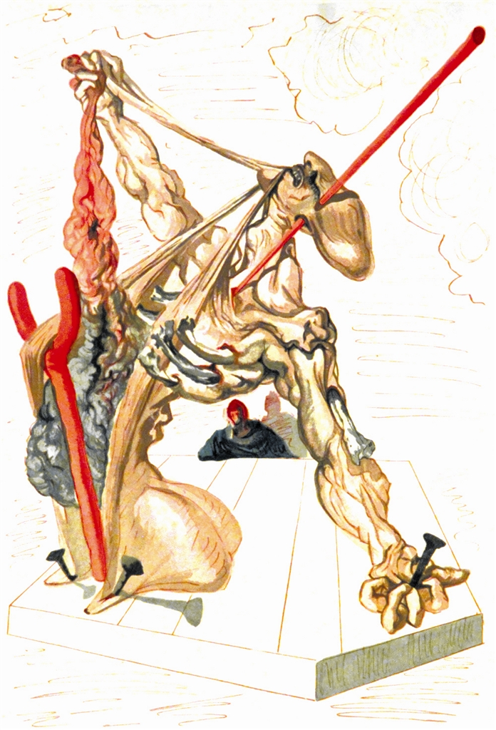 """Falsifiers"" (Les falsifcateurs; 1951-64). From ""Divine Comedy—Inferno 29,"" Salvador Dalí."