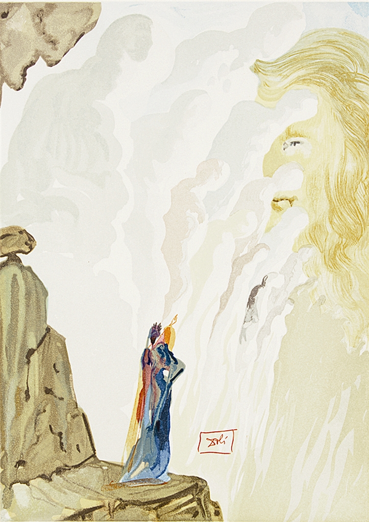 """""""The Beauty of the Sculpture"""" (La beaute des sculptures; 1951-64). From """"Divine Comedy—Purgatory 12,"""" Salvador Dalí."""