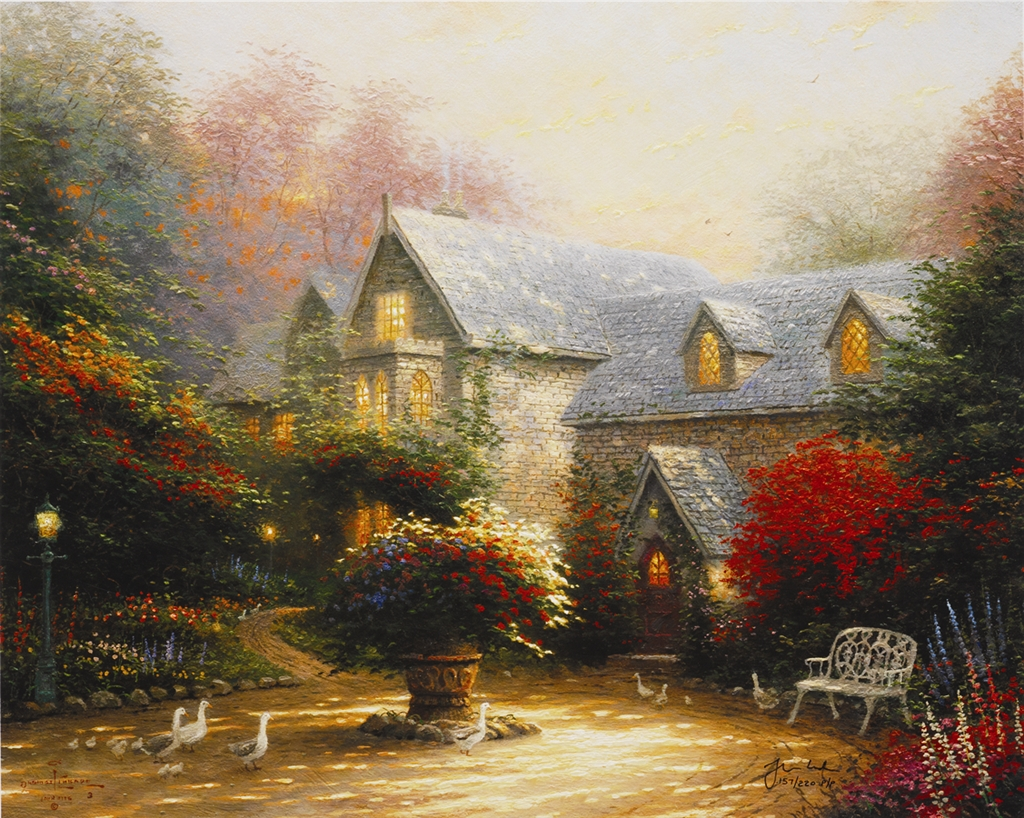 """Blessings of Spring"" (2002), Thomas Kinkade"