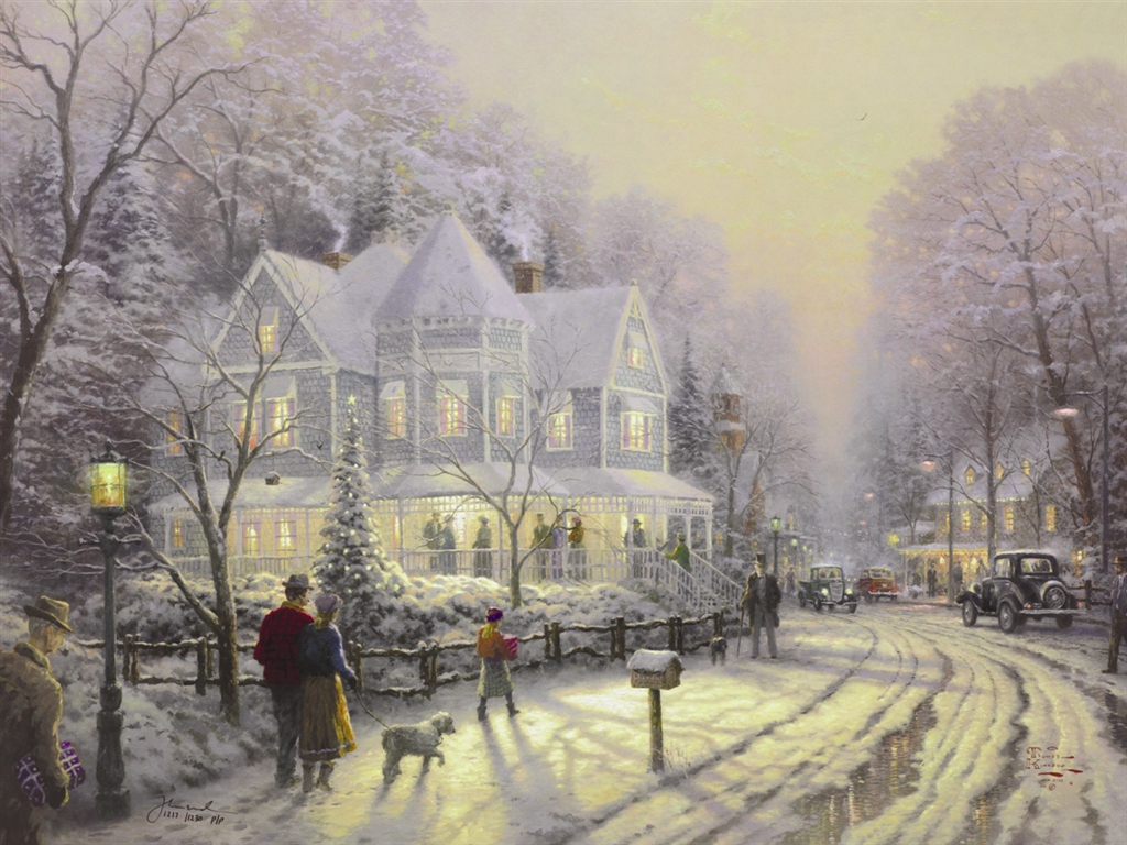 """Holiday Gathering"" (1998), Thomas Kinkade"