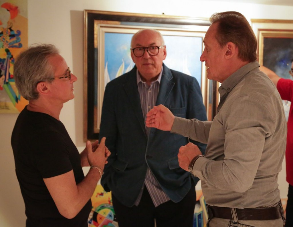 Stephane Guilbaud, Francois Boucheix and Albert Scaglione