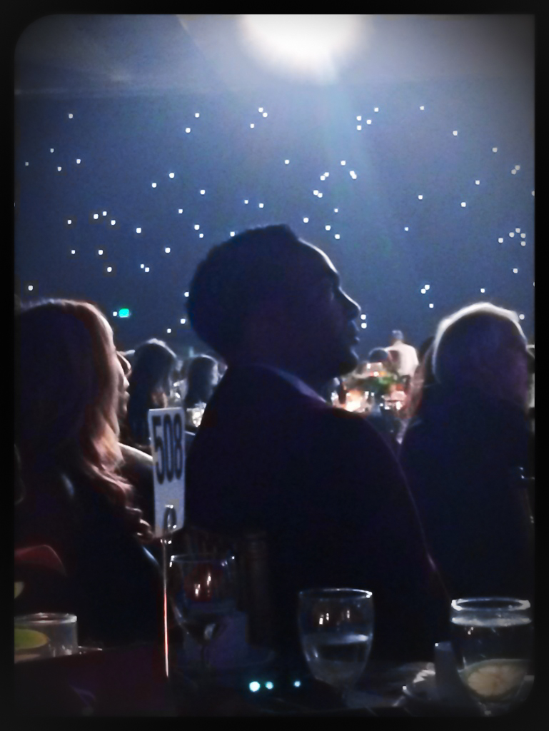 Marcus Glenn enjoying the music - The Grammys MusiCares Event honoring Carol King