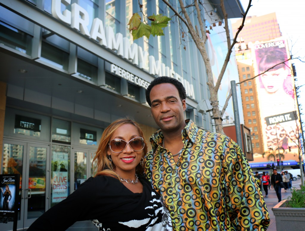 Marcus and Yolanda Glenn at the Grammy Museum - Park West Gallery