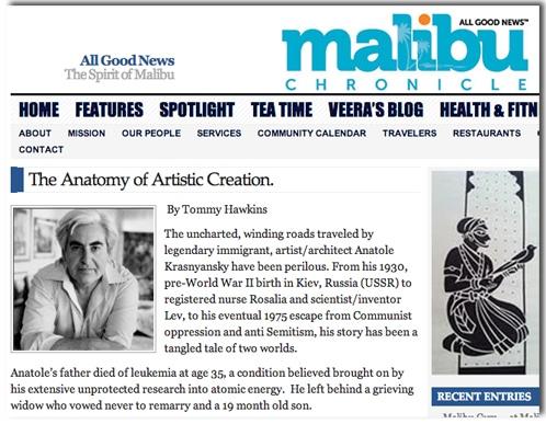Anatole Krasnyansky Malibu Chronicle