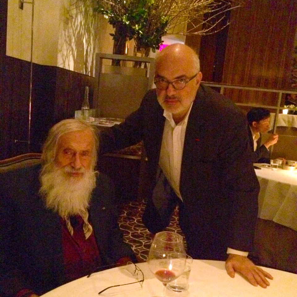 Yaacov Agam and Ron Agam at Per Se in New York.