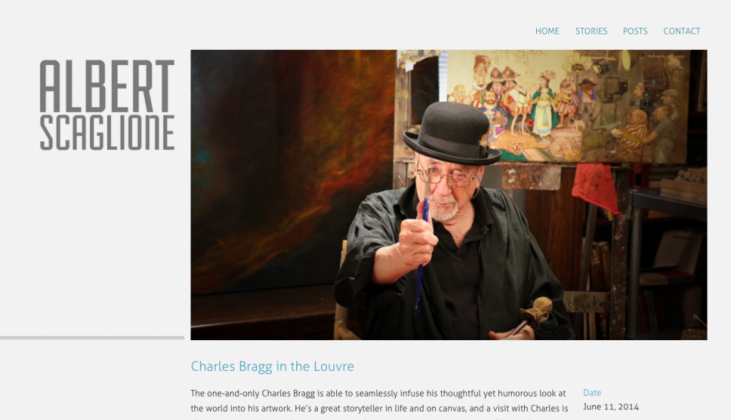 Albert Scaglione's blog - Charles Bragg in the Louvre - Park West Gallery