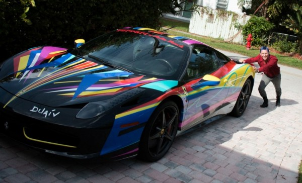 We took in this February when we were visiting Duaiv at his home and studio in Florida. That's a Ferrari 458 Italia.