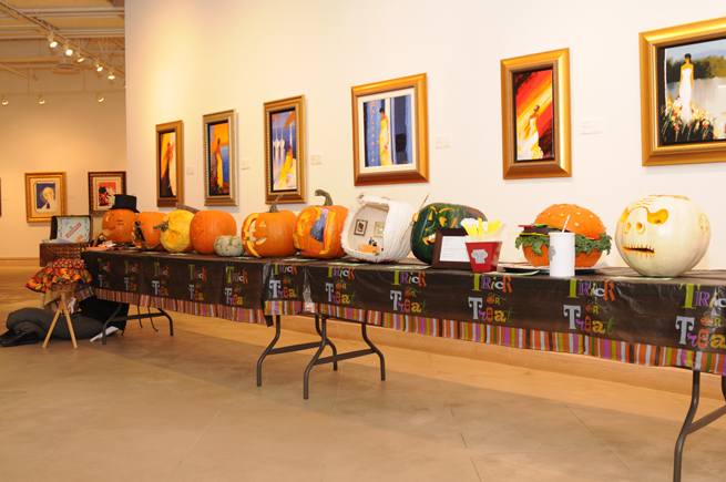 Entries in Park West Gallery's pumpkin carving contest
