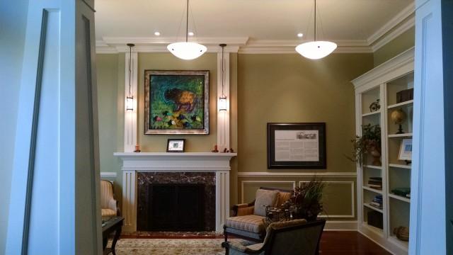 Tim Yanke's painting in the President's Home at North Dakota State University.