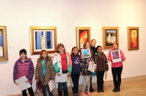 Troop 75191 displays their art work