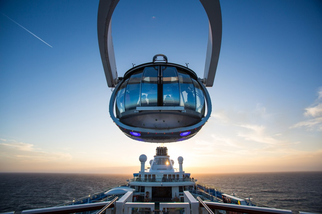 The North Star raises passengers up to 300 feet above the deck. (Photo courtesy of Royal Caribbean International)
