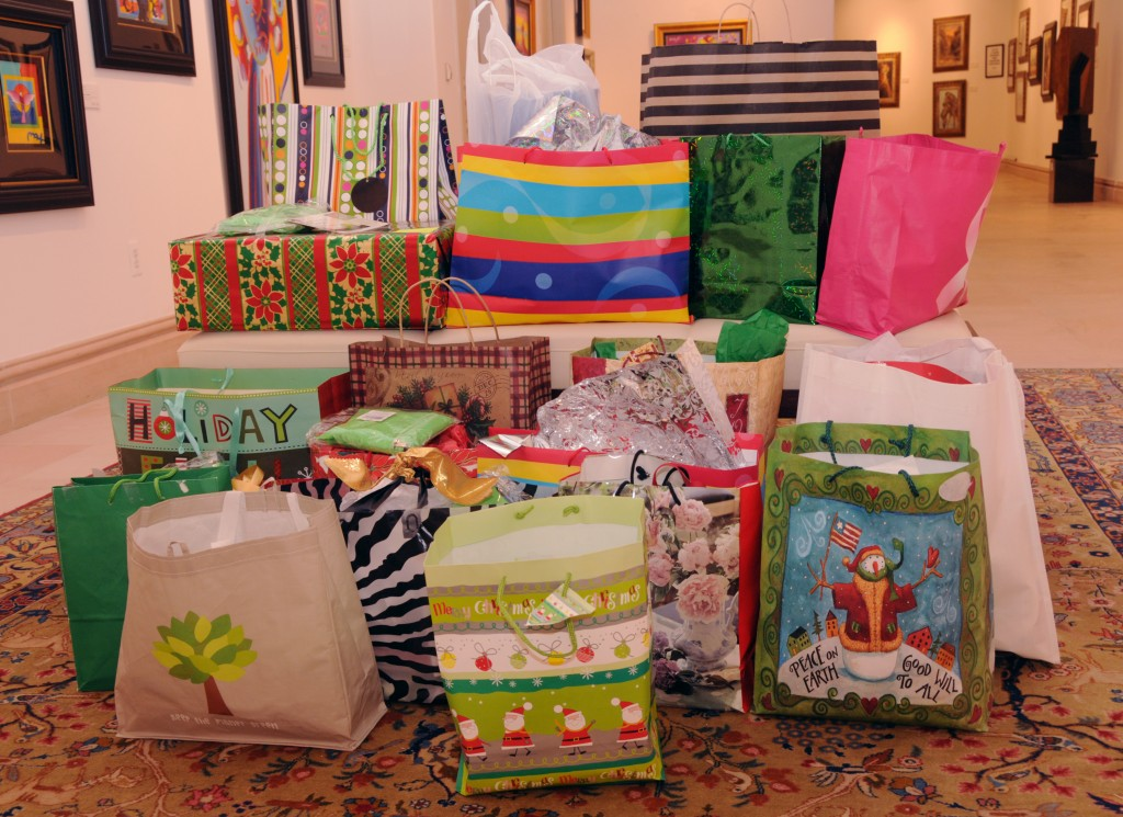 Seen here are donated gifts provided to youths in the Park West Foundation.