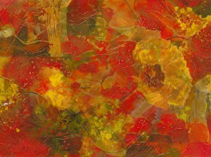 "Dominic Pangborn's ""Burst of Red and Yellow."""
