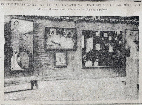 The Matisse room 1913 Armory Show