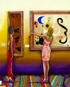 """Girrrr, You Gotta See This One (Miro Paintings)"" by Marcus Glenn"