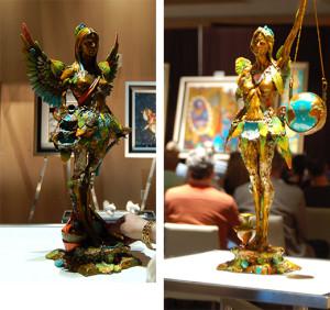 Displaying Sculptures