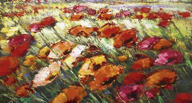 """Lilacs in the Distance"" Michael Milkin art mediums"