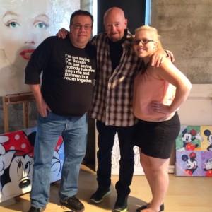 Lesleigh meeting her favorite artist, David Willardson, in his L.A. studio. Photo credit: Dave Wallensky