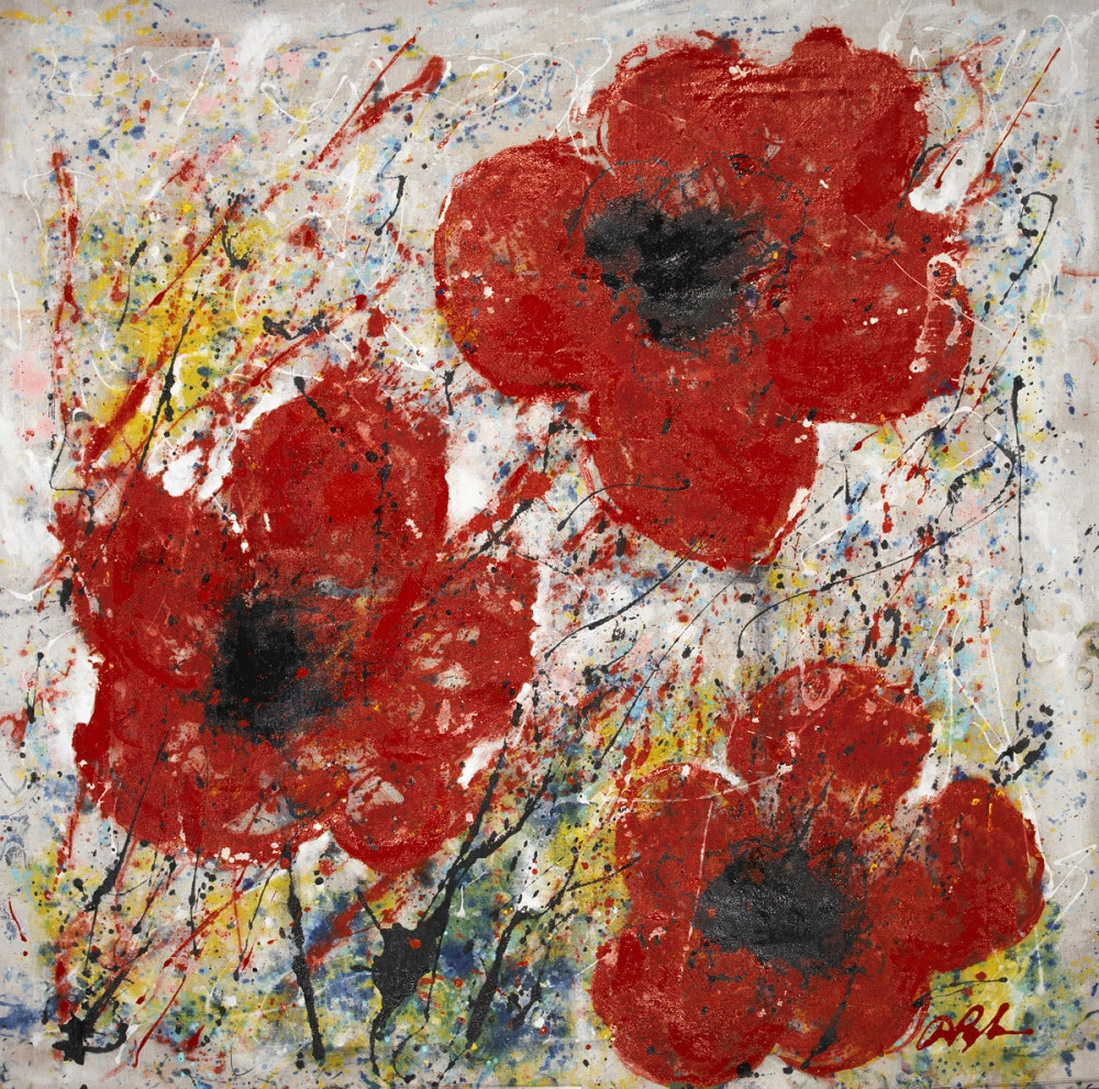 Dominic pangborns poppy flower paintings dominic pangborn poppy trio mightylinksfo