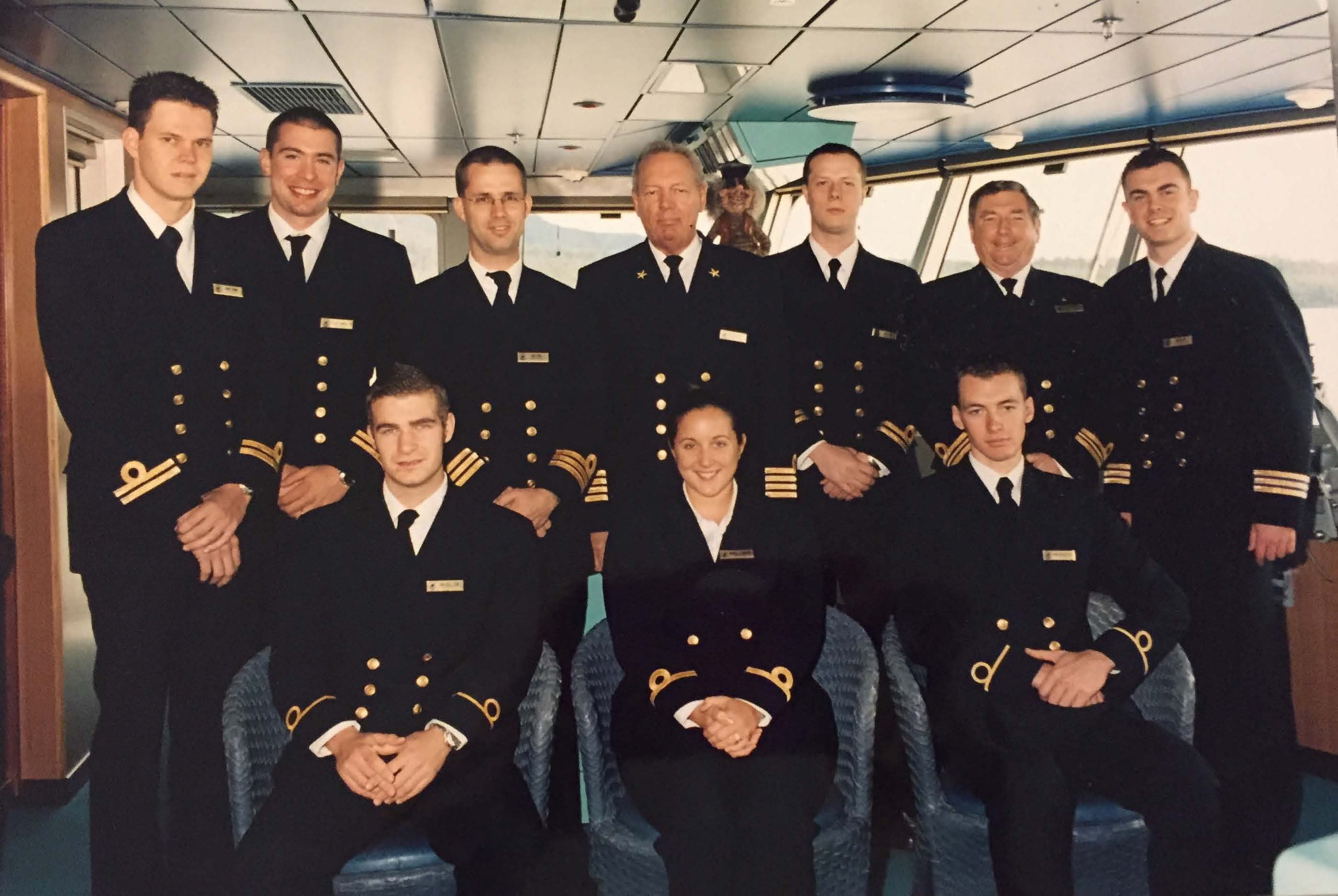 Rob as an officer on board the Osterdam. Photo credit: Rob Ducat