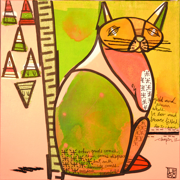 Lebo art cat Park West Gallery