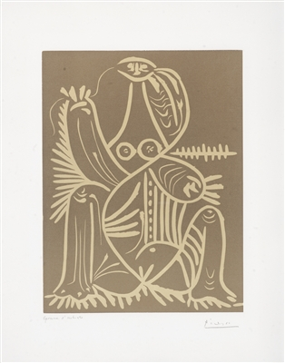 """""""Diurnes (Femme Assise en Pyjama de Plage II)"""" (1961), Pablo Picasso"""