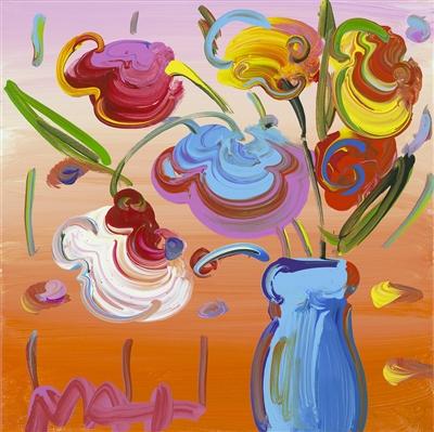 """""""Vase of Flowers Series 60 Detail Ver. VI #281"""" (2016), Peter Max"""