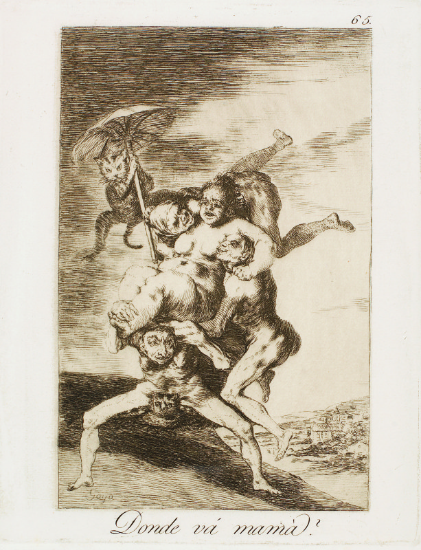 """""""Where is mother going?"""" (c. 1799), Francisco Goya"""