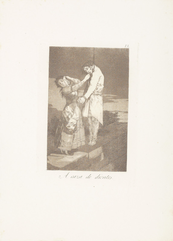 """""""Out Hunting for Teeth"""" (c. 1799), Francisco Goya"""