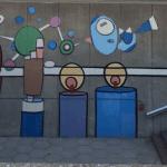 Lebo mural Detroit Hart Plaza