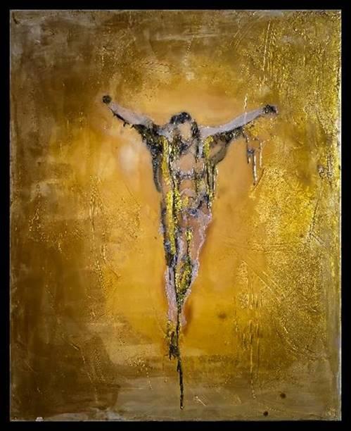"""""""The Crucifixion"""" (2015), Autumn de Forest"""
