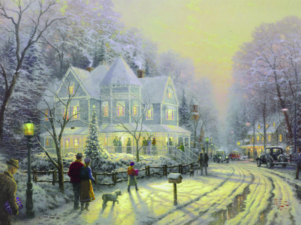 Thomas Kinkade Art On Canvas Now Available Park West Gallery