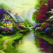 Thomas Kinkade canvas, mother's day