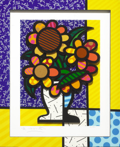 """Sunflower"" (2015), Romero Britto"