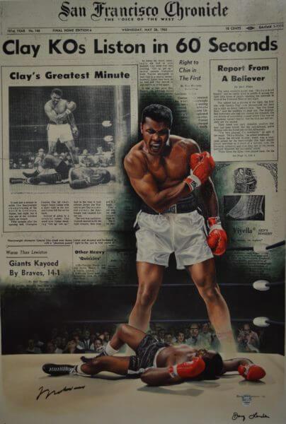 """""""Muhammad Ali - Clay KO's Liston in 60 Seconds"""" (2004), Sport Memorabilia"""