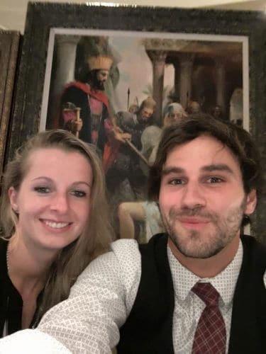 Auctioneers Matt Ketteman and Tanya Velinska