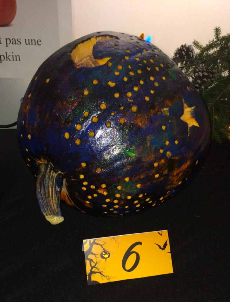 Park West Gallery pumpkin contest 2016 starry night