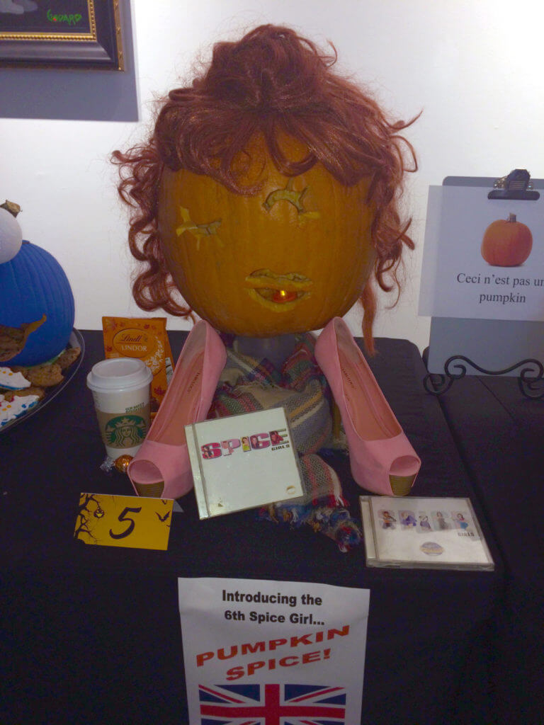Park West Gallery pumpkin contest 2016 pumpkin spice girl