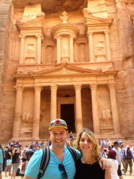 Len Kok and Megan Kiessig at Petra