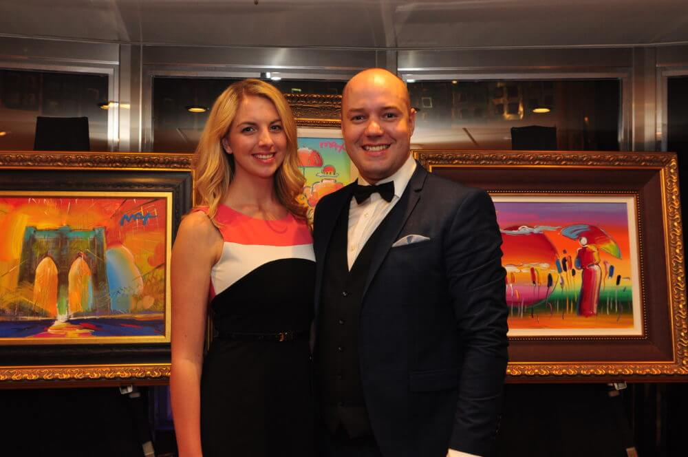 Auctioneers Megan Kiessig and Len Kok