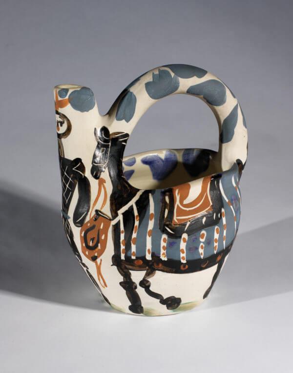"""Chevalier et Cheval"" Pablo Picasso ceramic"