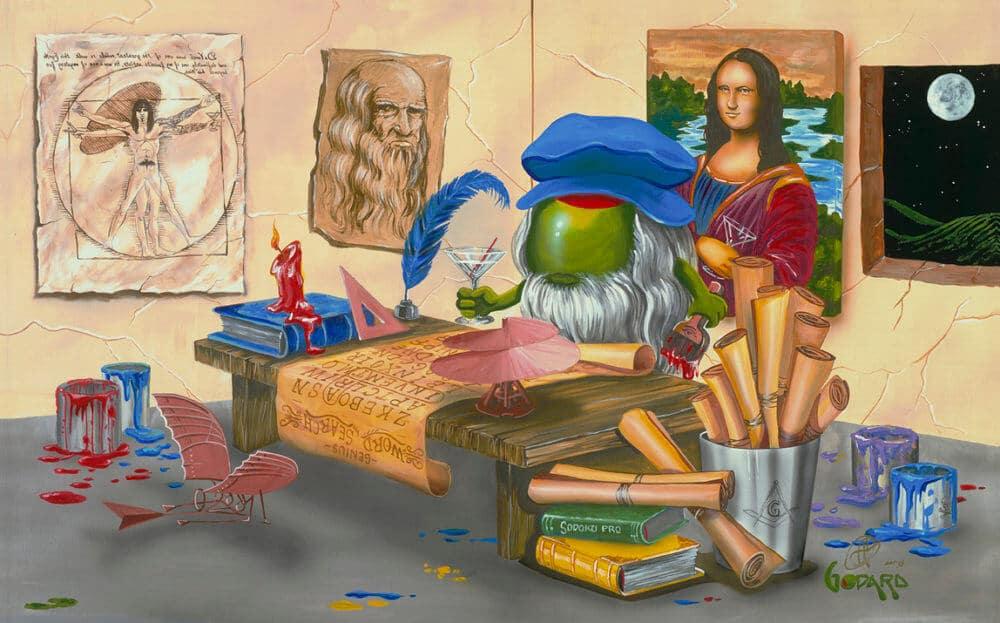 Da Vinci Window Michael Godard Park West Gallery